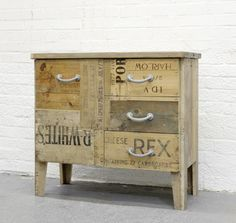 The lat­est series from Rupert Blan­chard of Styling and Sal­vage, recy­cled from wooden pack­ag­ing crates.