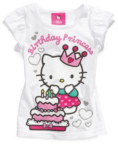 Hello Kitty Kids Shirts, Little Girls Birthday Tees - Kids - Macy's