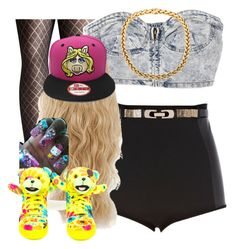 """""""."""" by trillest-queen ❤ liked on Polyvore featuring Avenue, River Island, Hello Kitty and adidas"""