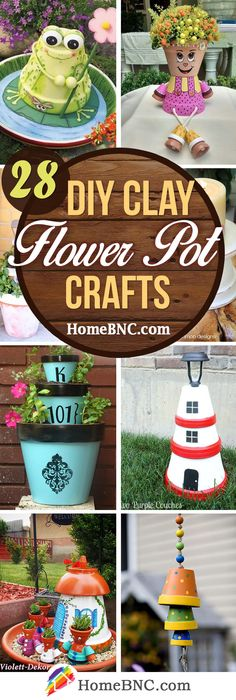 28 fun diy clay flower pot crafts to give your home a lift Flower Pot Art, Clay Flower Pots, Flower Pot Crafts, Clay Crafts For Kids, Clay Pot Crafts, Diy Clay, Painted Clay Pots, Painted Flower Pots, Hand Painted
