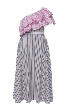 Gul Hurgel One Shoulder Ruffle Dress