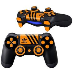 Adidas Dark Ribbon PS 4 Controller Full Buttons skin kit - Decal Design