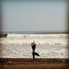 #travel #costarica nikki finding inner peace with yoga on the beach