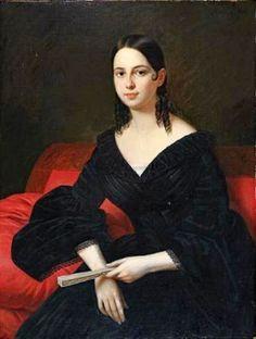 Jean Joseph Vaudechamp (French-born New Orleans artist, 1790-1866) Daughter of Samuel Hermann