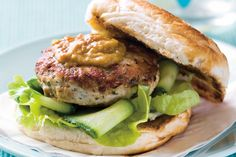 Satay chicken burgers main image