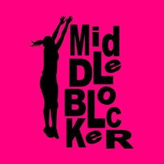 MIDDLE BLOCKER Volleyball shirt with graphic