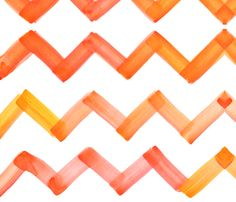 cestlaviv_chevron_yelloworange fabric by c'est_la_viv on Spoonflower - custom fabric