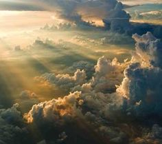 """Sunset in the Clouds So beautiful—one can almost imagine the return of Jesus. Mark """"Everyone will see the Son of Man coming on the clouds with great power and glory. Beautiful Sky, Beautiful World, Beautiful Places, Beautiful Morning, Simply Beautiful, Above The Clouds, Sky And Clouds, Snow Clouds, All Nature"""