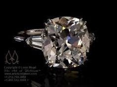 leon mege - cushion cut with tapered baguettes