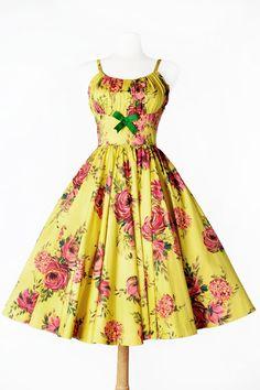 Ella Dress in Yellow Floral