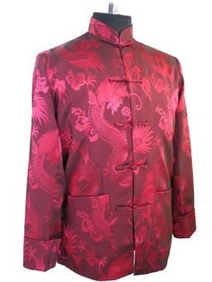 4d8c6007d4 Silk Satin Jacket Kung Fu Coat. Chinese Suit