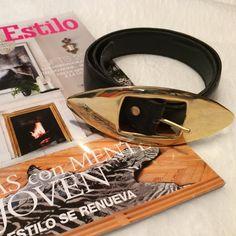 Avignon Black & Gold Tone Belt Avignon Vintage Black Belt with Gold Tone Buckle. In great condition Avignon Accessories Belts