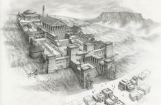 The Great Library at Alexandria Ancient Rome, Ancient Greece, Ancient History, Samos, Library Of Alexandria, Alexandre Le Grand, Non Plus Ultra, Old Libraries, Empire Romain