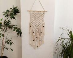 EXPRESSVERSAND Makramee Wandbehang, gewebten Wandbehang, geflochtene Wand Gobelin, Boho-Wandbehang, Wand Gobelin, Makramee, Boho Wohnkultur