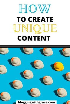 Creating unique content is difficult for any blogger. From new bloggers to pro bloggers content is king but most content is quite similar and often the same. Learn how to write blog posts that are unique, something that is very difficult when you start a blog or are a new blogger. #blog101 #bloggingforbeginners