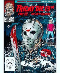 Horror Cartoon, Horror Movies Funny, Horror Movie Characters, Classic Horror Movies, Scary Movies, Horror Villains, Horror Icons, Horror Movie Posters, Silent Horror Comics