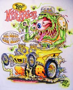 JOHNNY ACE Ed BIG DADDY Roth Rat Fink AIRBRUSHED MONSTER SHIRT MYSTERION Revell #JohnnyAceStudiosEdBIGDADDYRoth