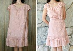 vorher/nachher:Kleid an Schultern und Seiten anpassen