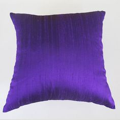 STOCK CLEARANCE 40% OFF-violet silk pillow cover 18 inch throw pillow