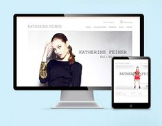 A great shot of the home page on the iMac and iPad Web Design Examples, Web Design Tips, Ui Design, Ecommerce Web Design, Web Design Agency, Corporate Wear, Corporate Business, Online Marketing Tools, Sales And Marketing