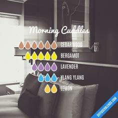 Morning Cuddles - Essential Oil Diffuser Blend #Essentialoildiffusers
