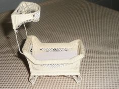 Vintage Dollhouse Miniature Baby Crib by Bobby Walls #Unknown