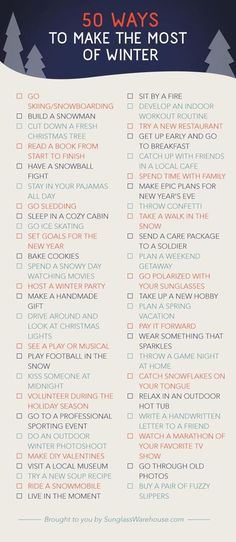 Winter bucket list - #BucketList, #Cold, #Winter