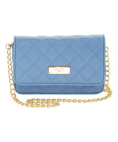 Look what I found on #zulily! Infinity Blue Mini Quilted Crossbody Bag #zulilyfinds
