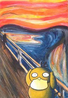 Psyduck-scream-painting