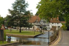 The lovely village of Eynsford in Kent, England by Paladine0312 (incorrectly named as Shoreham in the original)
