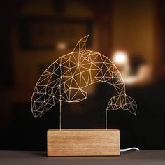 3 d the deer lamp led wooden individuality creative atmosphere adornment animal lamp a night light lamp birthday gift #Affiliate