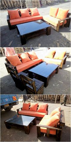 The Best and Easiest DIY Ideas with Recycled Wood Pallets: Let's give your dream home the feel of reality by showing you out with some of the mesmerizing and charming ideas of the old shipping wooden pallets. Pallet Couch, Wooden Pallet Furniture, Wooden Pallets, Wooden Diy, Headboard Shapes, Pallet Projects, Pallet Ideas, Rough Wood, Bohemian Wall Decor