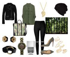 """street style chic"" by supabebek ❤ liked on Polyvore featuring Belstaff, Zara, Gucci, UGG Australia, Sonal Bhaskaran, Armani Collezioni, Nails Inc., Henri Lou and Topshop"
