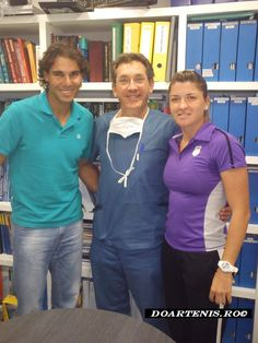 Rafael Nadal and Alexandra Dulgheru with Doctor Mikel Sanchez at the clinic in Spain for a check-up Rafael Nadal, Clinic, Spain, Check, Sleep Apnea, Sevilla Spain, Spanish