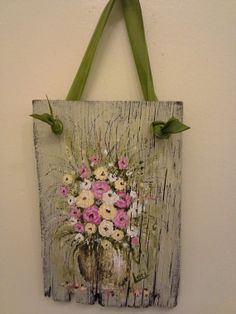 Original floral painting Pink & White on by ShePaintedEverything, $18.95