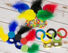 Olympic Inspired Carnival Masks for Kids Crafts | the littlecraftybugs company