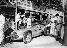 The German Racecar Driver Rudolf Caracciola In His Mercedes-Benz W154, In The Daimler-Benz Stands At The Grand Prix De Pau On April 11, 1938.