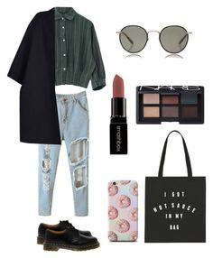 """""""Give it a go"""" by tomboyfashionlook ❤ liked on Polyvore featuring Dr. Martens, Garrett Leight, Valentino, Smashbox, NARS Cosmetics, women's clothing, women, female, woman and misses"""
