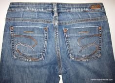 SILVER JEANS Steel Boot Womens 27 x 33 LONG TALL Bootcut DISTRESSED  #SilverJeans #Steel