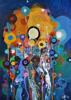 """Saatchi Art Artist: Lilla Kuizs; Oil 2014 Painting """"Beautiful summer night"""""""