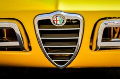 1969 Alfa-Romeo 1750 Sider Grille Emblem Photograph by Jill Reger