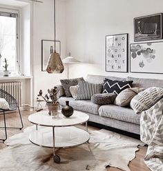 Cozy. I like everything except the animal skin on the floor! What a disgusting trend to have animals, their fur, antlers etc in homes.