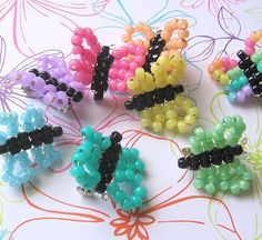 Beaded butterfly pin/brooch....I have found these look so cute in floral arrangements