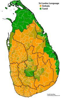 Sri Lanka language map by South Asia blog #map #srilanka