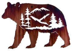 In My Soul Bear Metal Wall Art by Neil Rose - Wildlife Wall Decor - Lazart Cnc, Metal Walls, Metal Wall Art, Laser Art, Laser Cut Metal, Stencil Patterns, Quilting Patterns, Wood Burning Patterns, Animal Silhouette