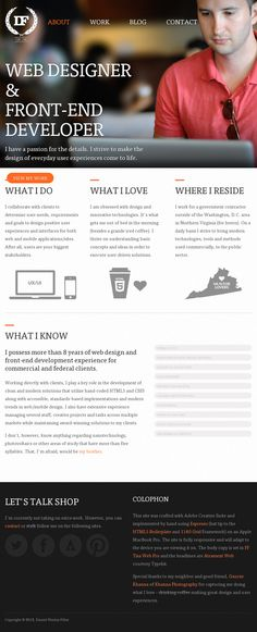 responsive animations transitions css3 html5 background photography portfolio home