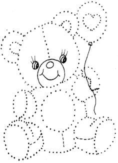 gépöltéssel Baby Applique, Baby Embroidery, Paper Embroidery, Embroidery Patterns, Dotted Drawings, Art Drawings For Kids, Animal Worksheets, Art Worksheets, Easter Coloring Pages