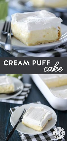 The ultimate or This Cream Puff Cake is a winner. via Inspired by Charm with Michael Wurm Jr. The ultimate or This Cream Puff Cake is a winner. via Inspired by Charm with Michael Wurm Jr. Mini Desserts, Summer Dessert Recipes, Brownie Desserts, Dessert Cake Recipes, Healthy Dessert Recipes, Easy Desserts, Delicious Desserts, Spring Desserts, Cold Summer Desserts