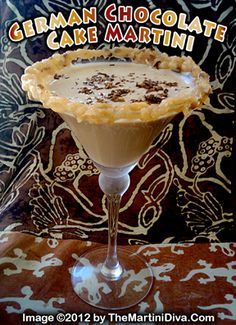 For #NationalGermanChocolateCakeDay - A #German #Chocolate #Cake #Cocktail from MartiniDiva.com, of course!