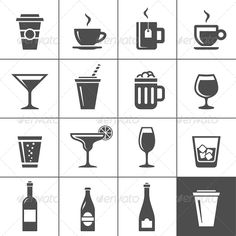 SVG cups and glasses